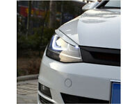 VW Golf MK7 GTI Headlights Eyebrow Eyelids