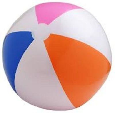 "3 MULTI COLORED BEACH BALLS 12"" Pool Party Beachball NEW #AA5 Free shipping"