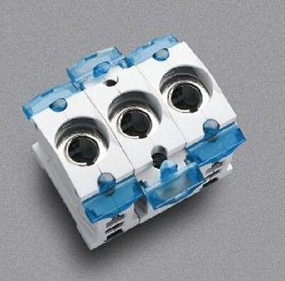 (1 Stk) Sicherungssockel 3xD02/E18 63A Wöhner 31306