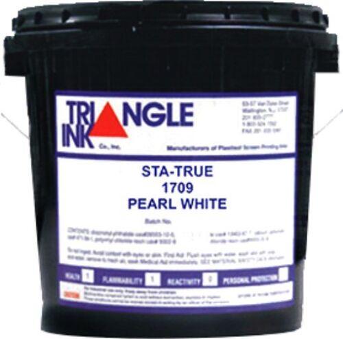 Triangle Ink Sta-True 1709 Pearl White Plastisol Ink - Quart