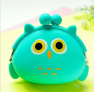 HOT Women Kid's Storage Cute Animal Silicone Coin Small Bag Change Wallet Purse