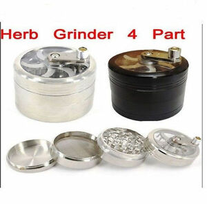 4-Part-Herb-Mill-Grinder-Magnetic-Metal-Diamond-Teeth-Grinder-Rizla-Grinder