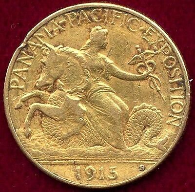 1915-S $2.50 gold Pan Pacific Expo  XF Details