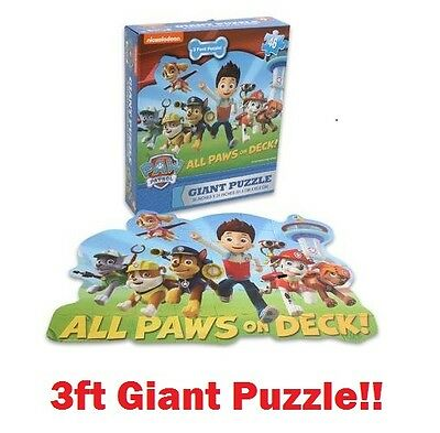 Nickelodeon Paw Patrol 46 Piece Educational Giant 3ft Floor Jigsaw Puzzle Kids