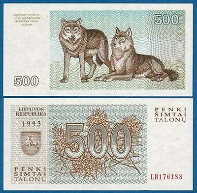 LITAUEN / LITHUANIA 500 Talonu 1993  UNC  P.46