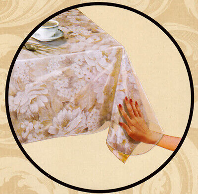 Carnation Home Fashions C-RD Clear 3 Gauge Vinyl Tablecloth