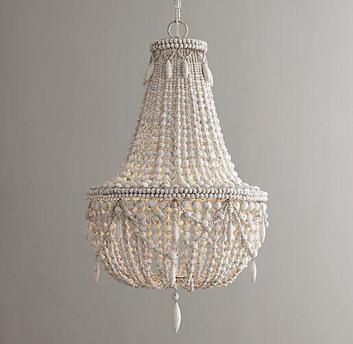 beaded wood lighting restoration hardware style modern crystal chandeliers - Modern Crystal Chandeliers