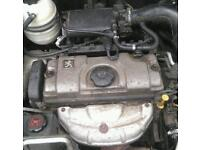 Peugeot 206 1.1 complete engine and gearbox