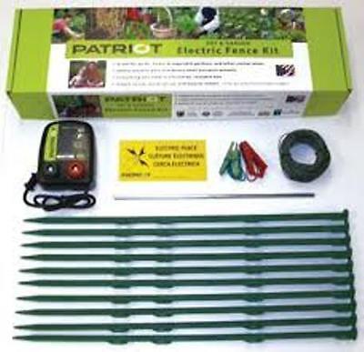 Patriot Pet Garden Electric Fence Complete Kit Fencer Garden Pest Control Dog