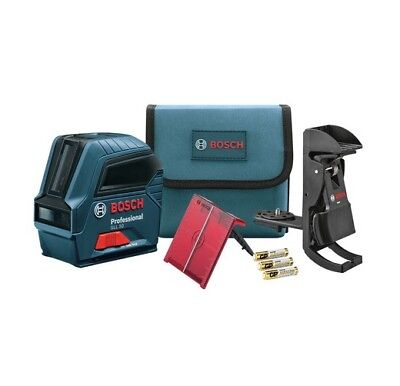 Self Leveling Line Laser - Bosch 50ft Self Leveling Cross Line Laser Level GLL 50 Package