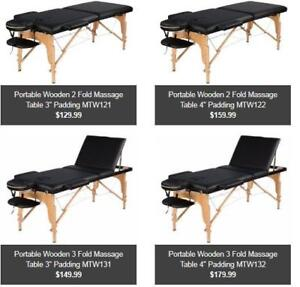 Massage Table Sale@ Greenlifestore.net || Pro Massage Physio Esthetics TattooTable || Wooden/Aluminum || WARRANTY || BEI