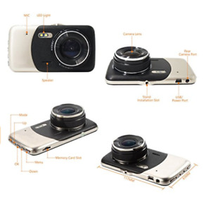 "Dash dual camera for car,Dash cam 1080P 4"" front"