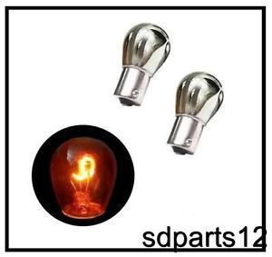 2 ampoules argent chrome clignotant arriere s25 12v. Black Bedroom Furniture Sets. Home Design Ideas