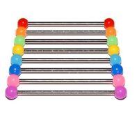 Industrial Scaffold Bar, Neon Acrylic Balls, 1.6mm - Choice Of Colour & Length - aurora-designs - ebay.co.uk