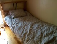 Ikea twin bed (mattress and frame)