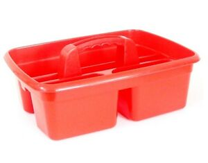 Brand New Cleaning Caddy Stackable Tidy Tray - Red