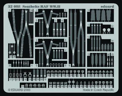 Eduard Accessories 32088 - 1:32 Seatbelts Raf Ww.II - Zubehör - Neu