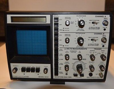 Sencore Waveform Analyzer Sc61 Microprocessor 60mhz Dual Trace Oscilloscope