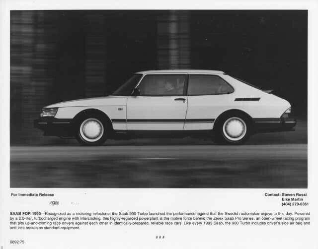 1993 Saab 900 Turbo Press Photo 0004