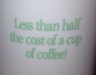 "MAXZIDE-25 1989 Mug ""Half the Cost of Cup of Coffee"" American Cyanamid DRUG REP"