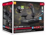 Speedlink Black Widow Flight Stick / Joystick with Throttle Control (NEW) GREAT CHRISTMAS GIFT