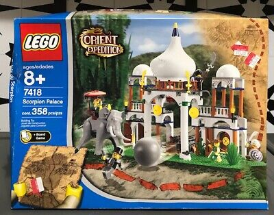 LEGO Orient Expedition Scorpion Palace 7418 NEW SEALED 358 Pieces READ