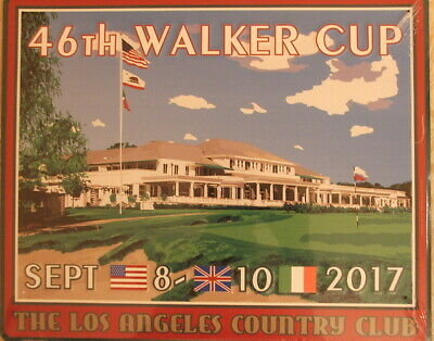 Brand New 2017 Walker Cup Golf - LACC Metal (pub sign) Los Angeles Country Club - Walker Cup