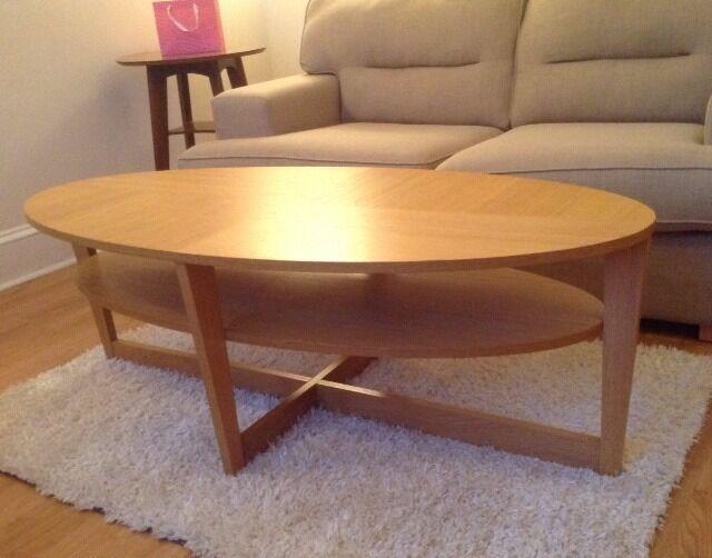 Superb For Sale IKEA Vejmon Oval Coffee Table