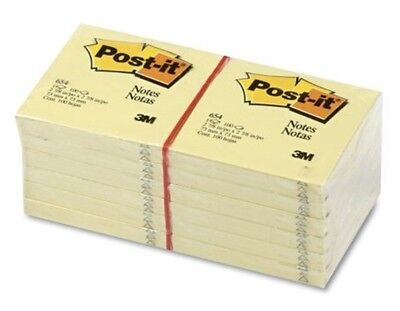 Post-it Note 3 X 3 Yellow Message Organize Sticky 12 Pads 100 Sheetspad Recycle