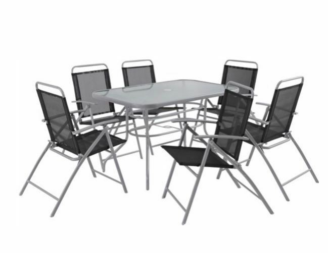 Pacific 6 Seater Patio Furniture Set No Parasol Brand New Bargain Price 40