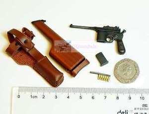 1:6 Scale Action Figure DRAGON BOLO MAUSER BROOMHANDLE PISTOL GUN C96 C96_1_WD