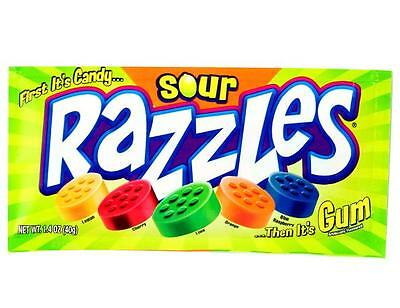 Razzles Sour American Bubble Gum 1.4 OZ (40g) from Candy Junction