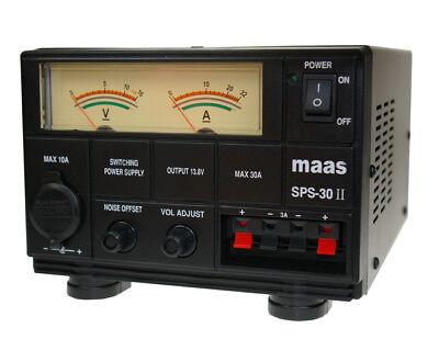 Maas SPS 30 AMP POWER SUPPLY PSU  Ham Radio UK PLUG