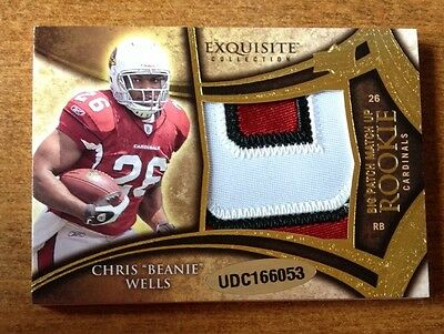 CHRIS BEANIE WELLS AARON CURRY 2009 EXQUISITE BIG PATCH MATCH UP RC #D 44/50 Chris Beanie Wells
