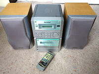 REMOTE CONTROL SHARP BOOKSHELF STEREO HI FI SYSTEM RADIO / CD ' CASSETTE TAPE