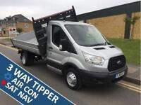 2016 Ford Transit 2.2 TDCi 350 L2H1 3-Way Tipper RWD 2dr Manual Tipper