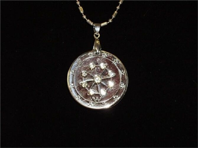 Ehm Quantum Pendant Silver Crystal 6000 Neg Balance Ions