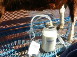 Fully portable milking machine for goats, sheep, etc