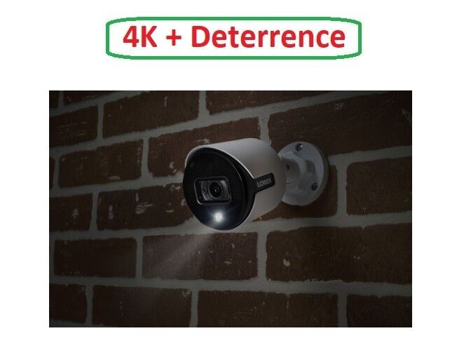 New Lorex 4K HD LBV8541X Deterrence Bullet Camera LBV8541X-C