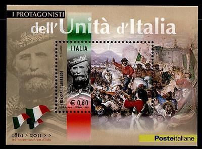 Freiheitskämpfer Giuseppe Garibaldi. Block. Italien 2011