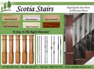 STAIRS & FLOORING - Hardwood Stair Treads, Metal Balusters, Post