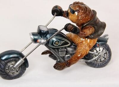 SLOTH ON A MOTORBIKE WITH LEATHER JACKET SUNGLASSES AND CIGAR ORNAMENT (Sloth With Sunglasses)