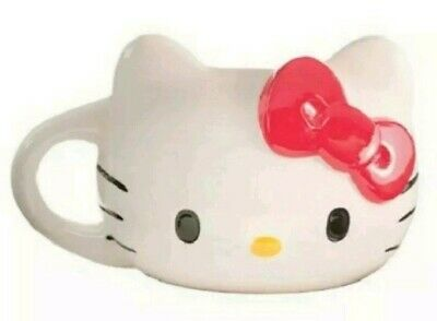 Hello Kitty Head w/ Red Bow Oversized 18 oz Sculpted Coffee Tea Ceramic Mug