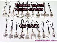 Range of Tibetan silver charms