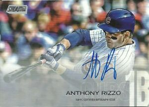 2018 Stadium Club Autographs Anthony Rizzo Chicago Cubs
