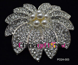 Elegant rhinestone flower brooch wedding Jewelry optional styles&quantity