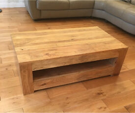 Stunning Solid Natural Mango CoffeeTable - Very Good Condition - Must be uplifted by Thursday