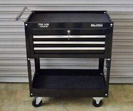 TM US 3 Drawer Mechanics Tool Cart, Black
