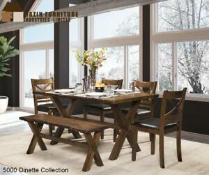 Solid Wood Live Edge Dining Set (MA512)