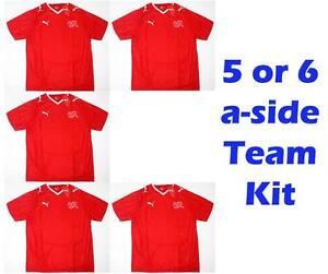 Switzerland-x5-5-6-a-Side-Team-Kit-Football-Shirts-Job-Lot-Soccer-jersey-Bulk